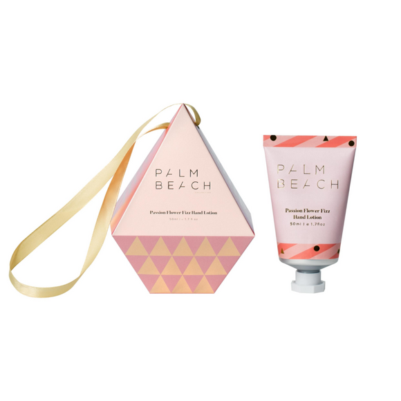 Palm Beach Hanging Bauble Hand Lotion Passion Fizz