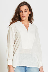 Winter Deep V Tee White