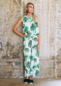 Leaf Jumpsuit Green