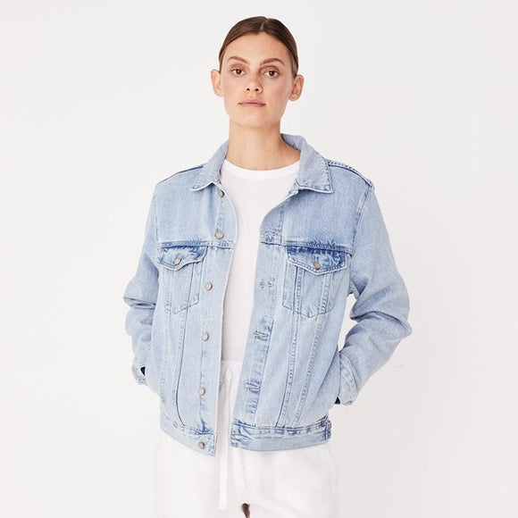 Maicy Denim Jacket Pacific Blue