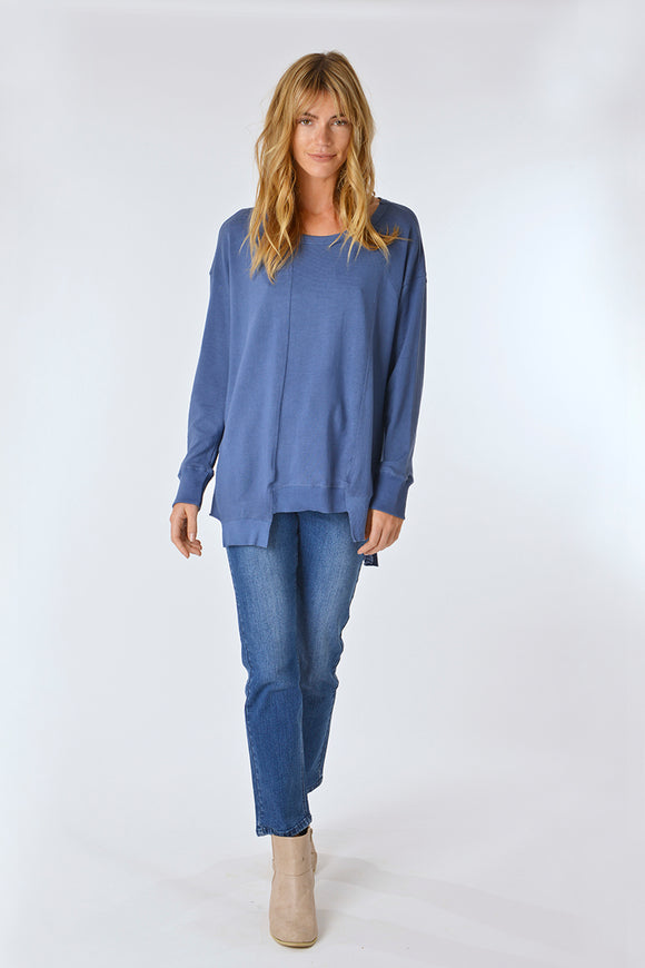 Nevia Panel Jersey Top Blue
