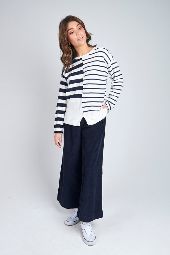 Panel Knit Jumper Stripe