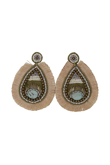 Taurus Earrings Natural