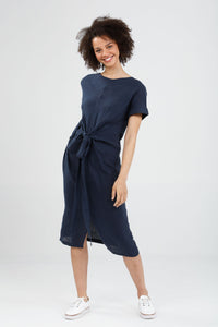 Beginnings Dress Navy