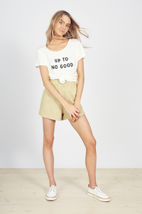 Up To No Good Tee White