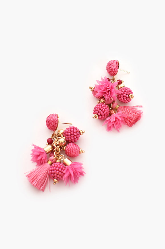 Cosmo Earrings Hot Pink