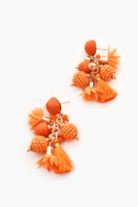 Cosmo Earrings Orange