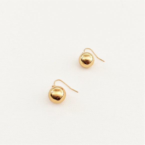 14mm Ball Hook Earrings Gold