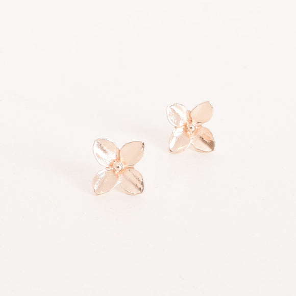 Mini Four Petal Flower Studs Rose