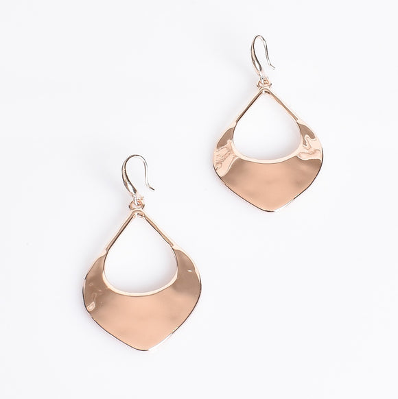 Eastern Open Teardrop Earrings Rose