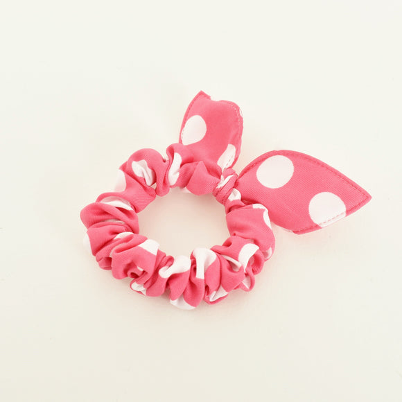 Polka Dot Mini Scrunchie Pink
