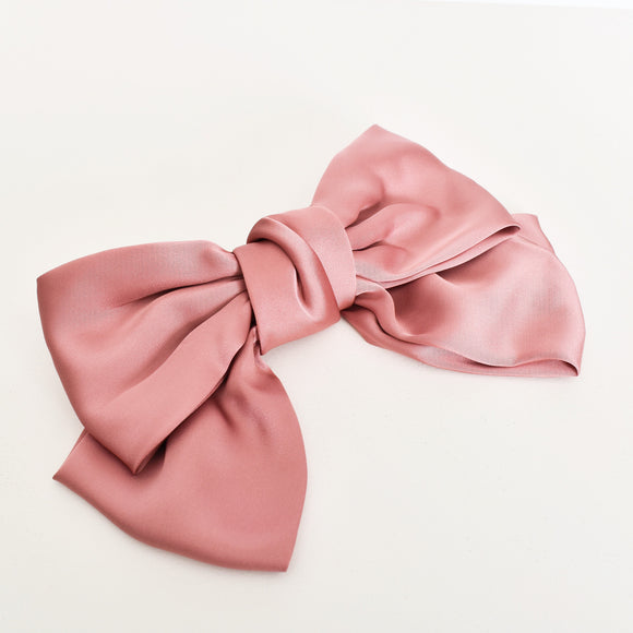 Oversized Bow Hair Clip Pink