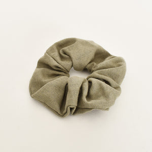 Essential Linen Scrunchie Khaki