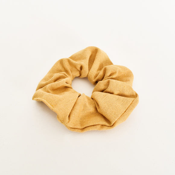 Essential Linen Scrunchie Mustard