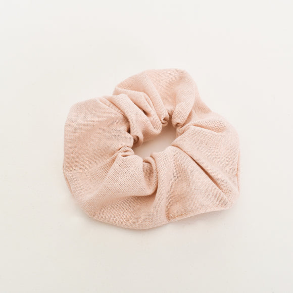 Essential Linen Scrunchie Nude
