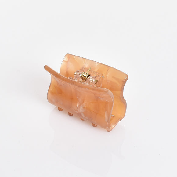 Resin Hinged Claw Clip Mustard