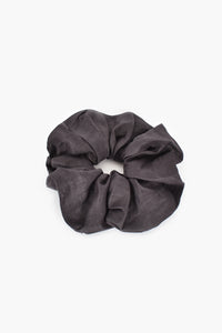 Supersized Linen Scrunchie Charcoal