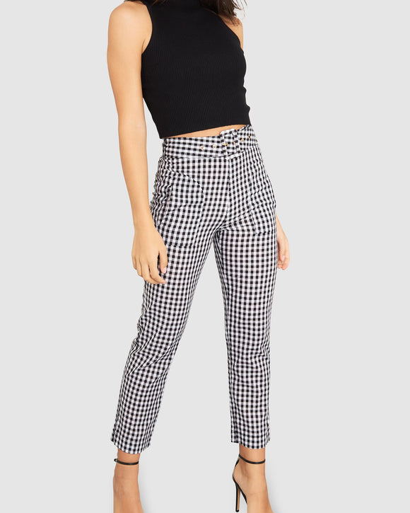 Izi Gingham Trousers Black/ White Check