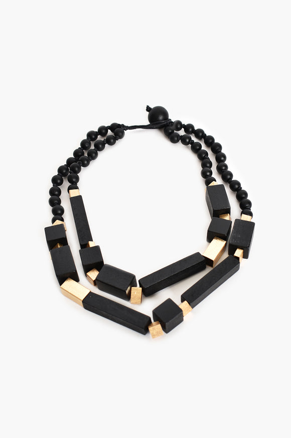 Timber Rod Necklace Black