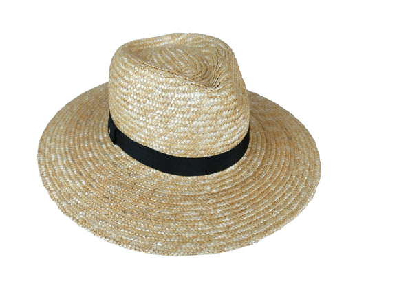 Natural Straw Large Brim Fedora