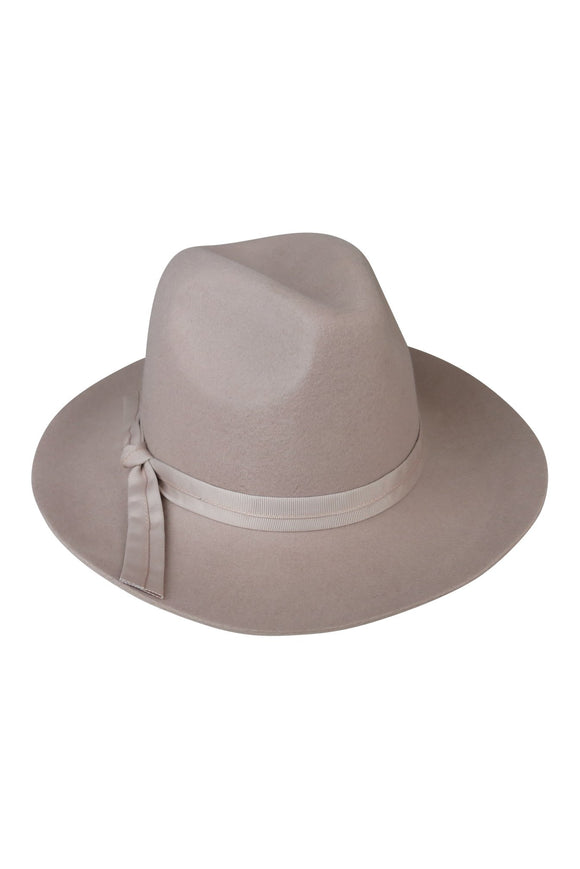 Vanilla Chai Felt Fedora with Double Pete Band