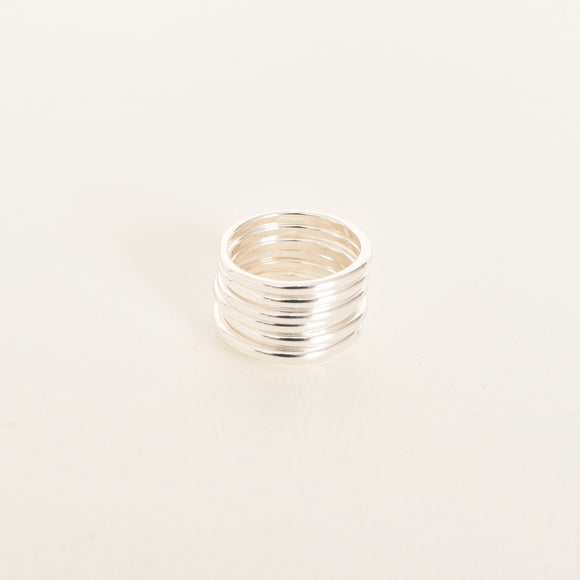 Stacking Ring Set Silver