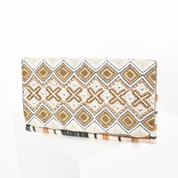 Hastings Beaded Clutch
