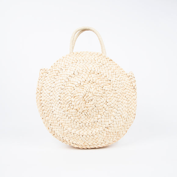 Plaited Swirl Round Basket Bag
