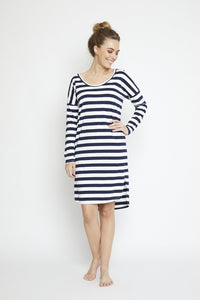 Forever Dress Navy Stripe