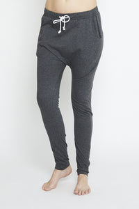 Luxe Drop Slouch Pant Charcoal