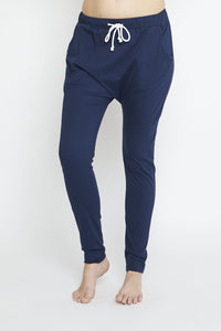 Luxe Drop Slouch Pant Navy