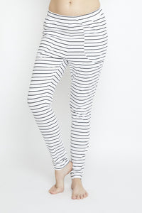 Slouch Pant Black Stripe