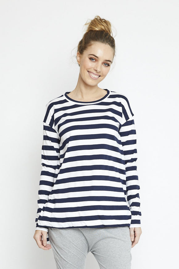 Stella Long Sleeve Tee Navy Stripe