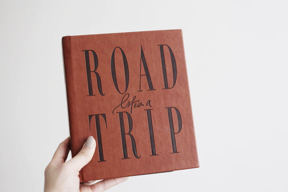 Life's A Road Trip Tan Travel Journal