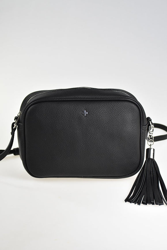 Gracie Crossbody Bag Black Pebble/ Silver