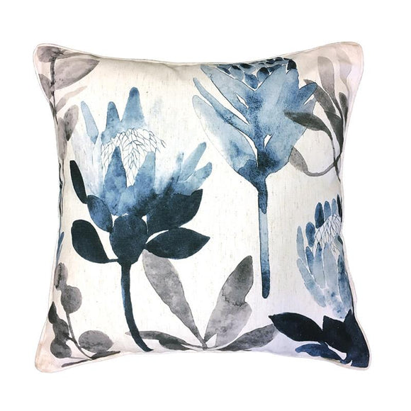 Protea Denim Cushion 50cm