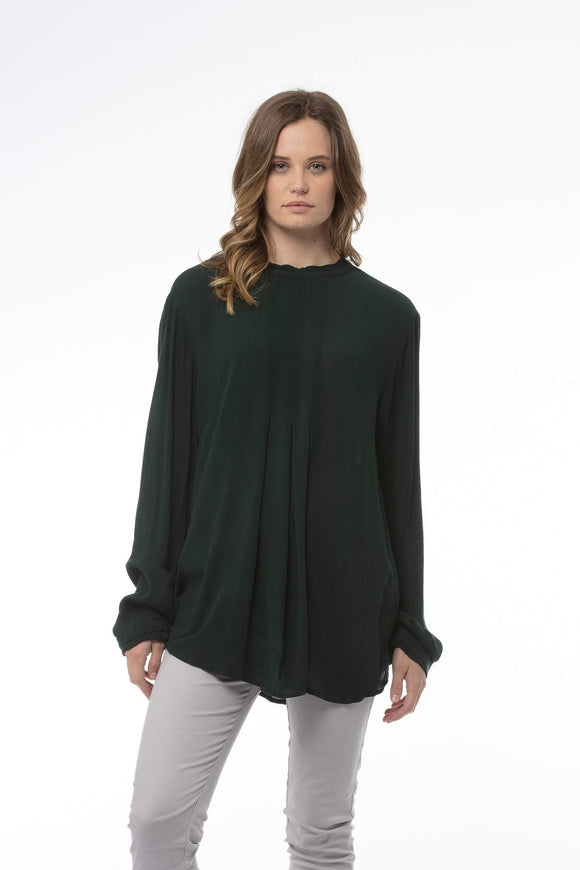 Claudia Top Bottle Green