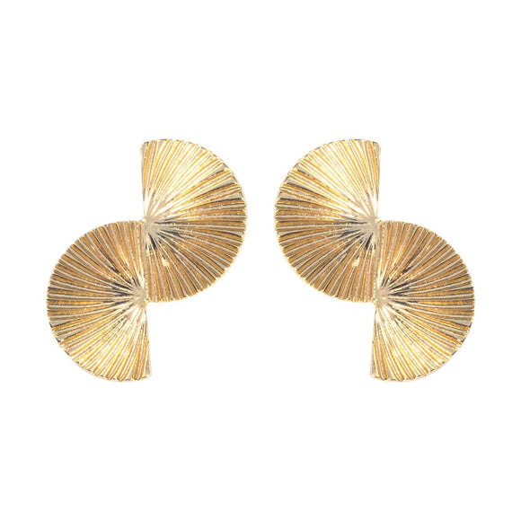 Aki Gold Earrings