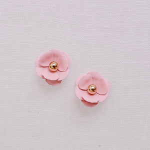Florence Blush Flower Stud