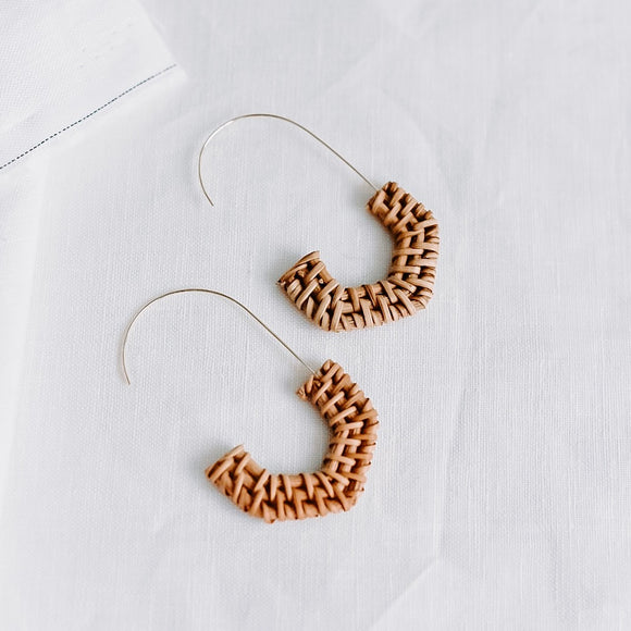 Kara Rattan Earrings