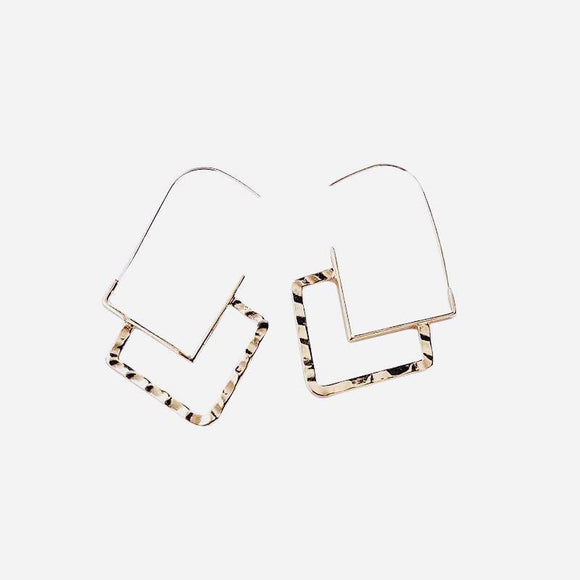 North Earrings Gold