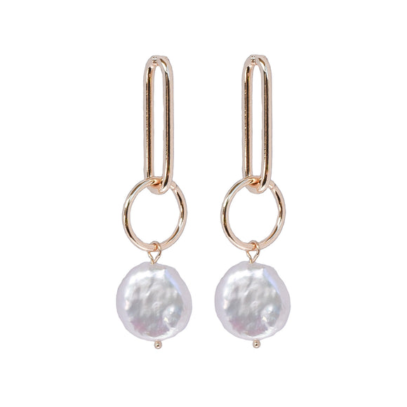Tallulah Gold Pearl Earrings