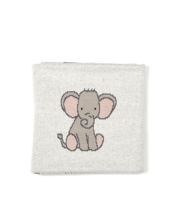 Elephant Girl Baby Blanket