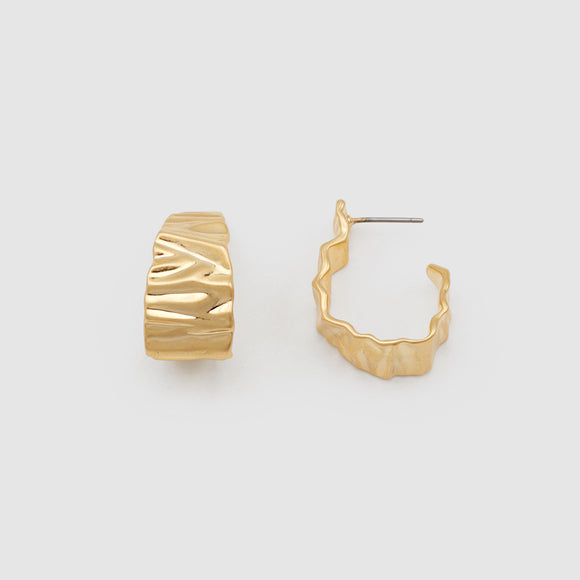 Crinkle Hoops Gold