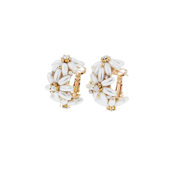 Eden Pearl Hoops Gold