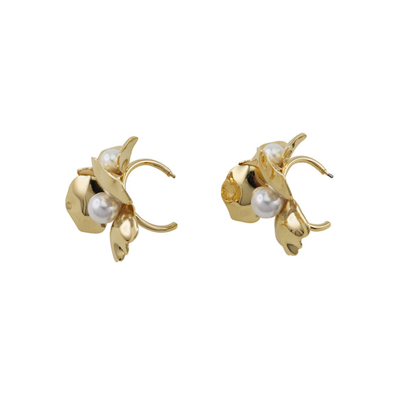 Morgan Flower Hoops Gold