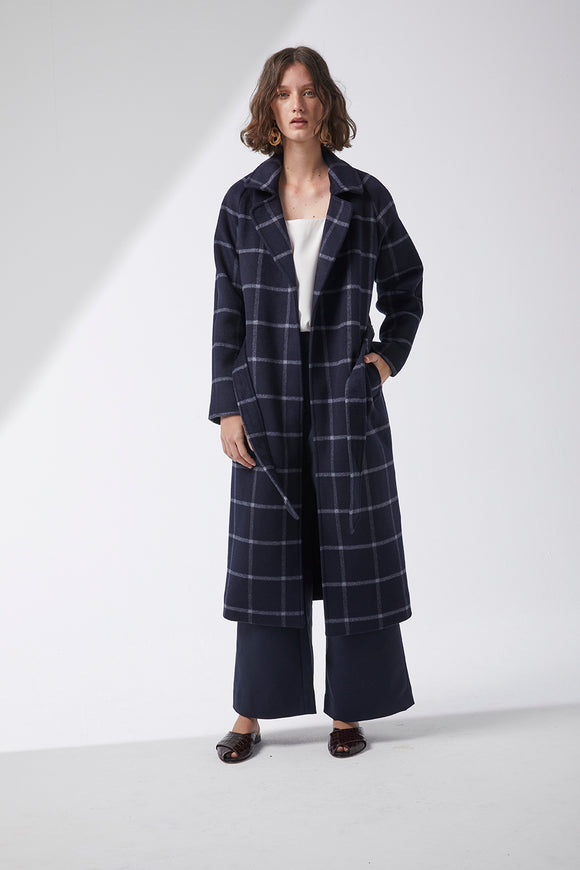 Riley Coat Navy Check