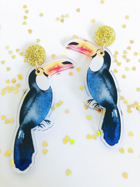 Toucan Mega Dangle Earrings