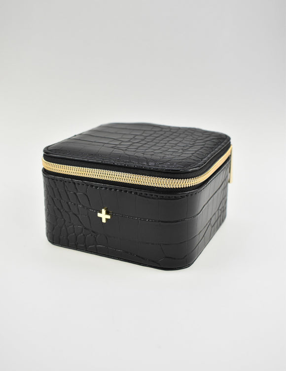 Fifi Mini Jewellery Case Black Croc
