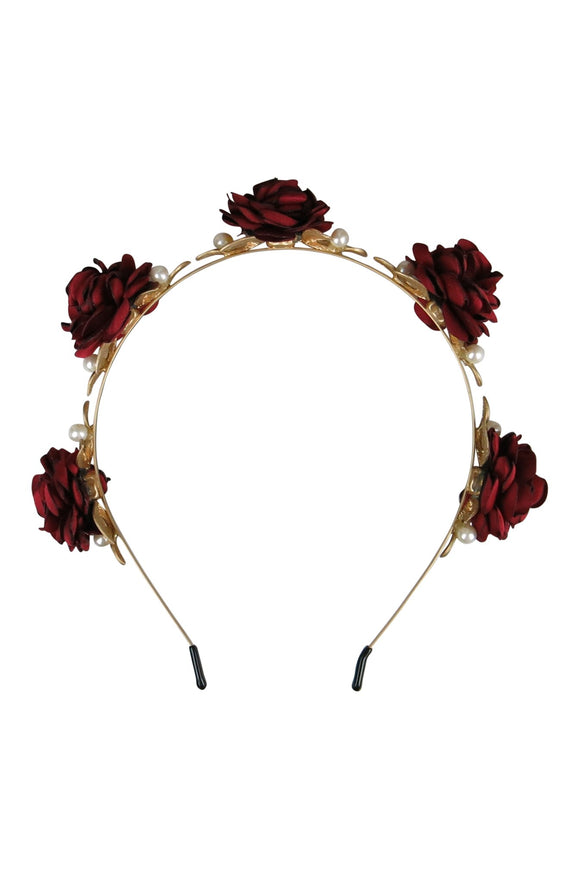 Eve Headpiece Burgundy